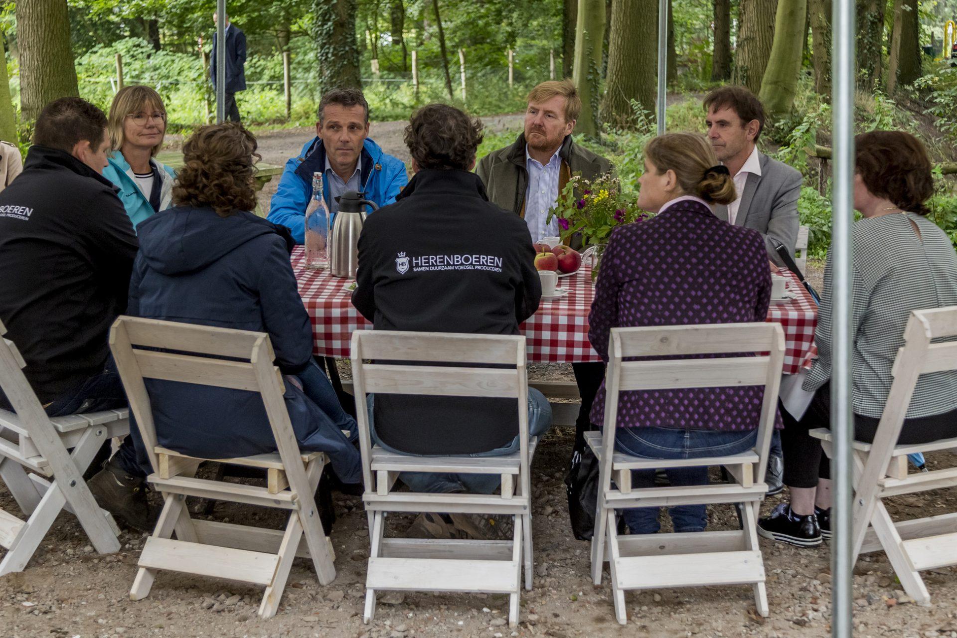 Koninklijk bezoek aan Herenboeren Wilhelminapark
